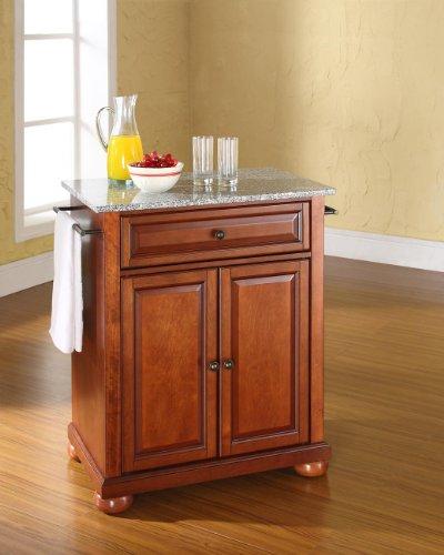 Crosley Furniture Alexandria Cuisine Kitchen Island with Solid Grey Granite Top - Classic -