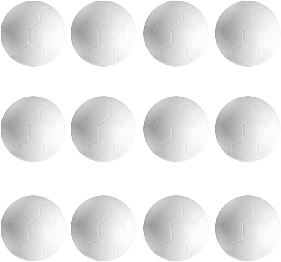 perfeclan 12 Piezas De 32 Mm De Fútbol Blanco De Fútbol De Balones De Futbolín Fussball: Amazon.es: Deportes y aire libre