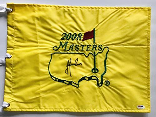 Trevor Immelman signed 2008 Masters golf Flag augusta national Pga psa dna