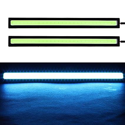 1 par de luces de circulaci/ón diurna DRL luz intermitente LED barra de luz azul hielo