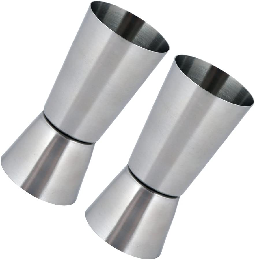 30//60 ml Dual Measure Spirit Measuring Cup Kosma Set of 2 Stainless Steel Jigger Peg Measure