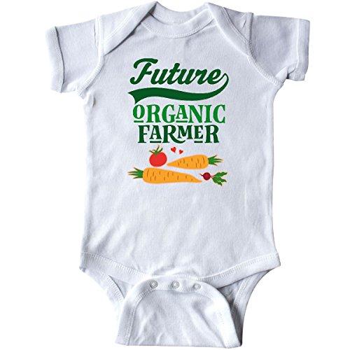 inktastic Farming Future Organic Farmer Infant Creeper 12 Months White