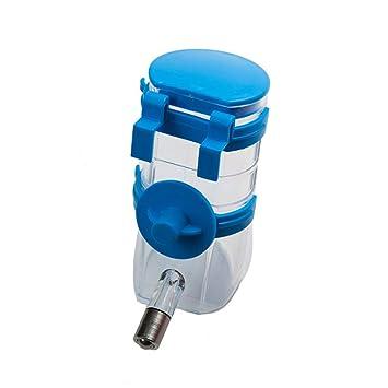 SYAODU Pet supplies Dispensador de Agua para Gatos y Perros, Jaula para Mascotas Agua Potable, Fuente para Beber automática para Mascotas (Color : Azul): ...