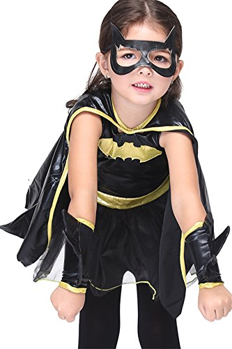 Cute Fairytale Halloween Pumpkin Toddler Kids Witch Costume Set Bats Fancy Dress with Hat for (Fairytale Fancy Dress Costumes)