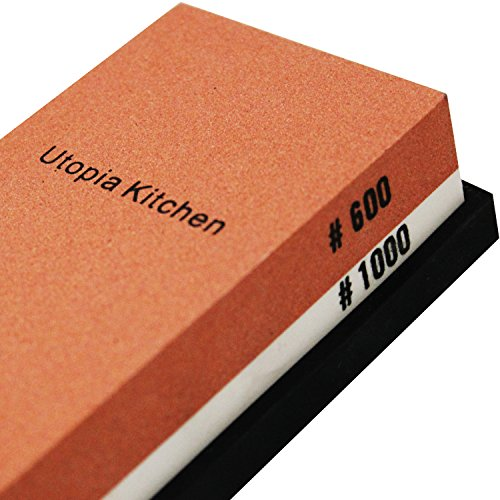 Utopia Kitchen Double-Sided Knife Sharpening Stone - Multi-Colored - 600/1000 Grit by Utopia Kitchen (Image #1)