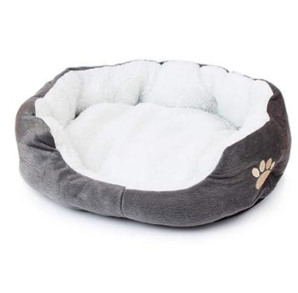Sunshine D Camas para Perros Pequeño Camas de Gatos Nido de Algodón Cálido Cómodo, Casa Redonda Suave para Mascotas Perros y Gatos (Gris)