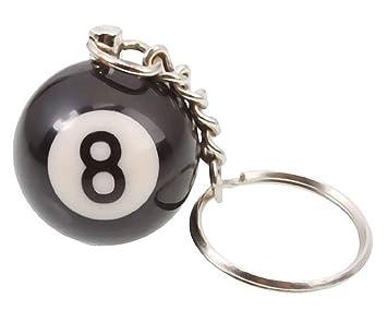 Llavero con Colgante - Bola de Billar Número 8 Idea de ...