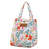 Urmiss Cute Insulated Lunch Bag Box Tote Cooler Bag Reusable with Adorable Tree Forest Rose Floral Insulated Lunch Bags for Women Ladies Girls Children Kids Student
