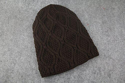 al punto sombrero libre lana abrigado Marrón de de Gorro cuadros a aire afTqxX