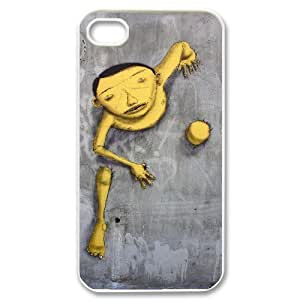 graffiti yellow boy funny urban street arts Case For iPhone 4/4s White