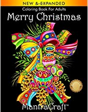 Coloring Book for Adults: Merry Christmas: Christmas Coloring Book for Adults Relaxation (MantraCraft Coloring Books)