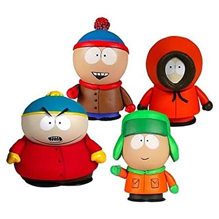 Mezcotoyz - Set 4 Figurines South Park Boys 8cm - 0696198237702: Amazon.es: Juguetes y juegos