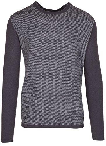 (Armani Collezioni Men's Grey 100% Cashmere Pullover Knitwear Crewneck Sweater, EU 60 / US 4XL,)