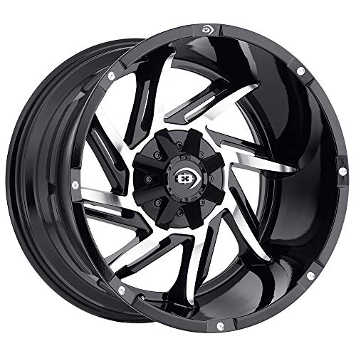 Vision 422 Prowler Gloss Black Machined Face Wheel with Machined Finish (20x12