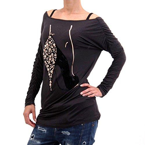 Nolita - Camiseta de manga larga - para mujer negro