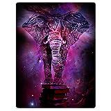 Throw Blankets Fleece Blanket for Sofa Bed Mandala Elephant India Style Galaxy Nebula Book 30'' x 40''