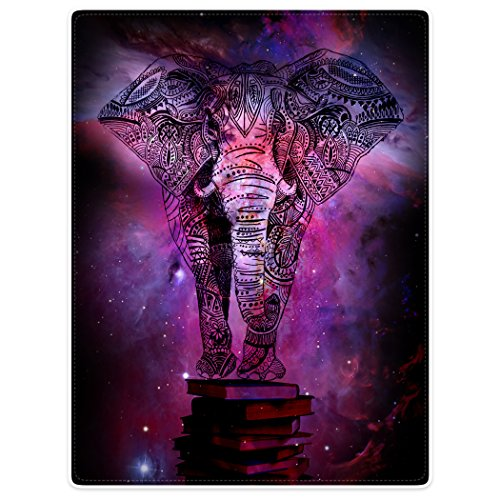 Throw Blankets Fleece Blanket for Sofa Bed Mandala Elephant India Style Galaxy Nebula Book 30'' x 40'' by TSlook
