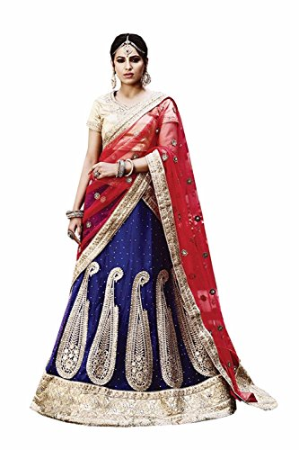 IWS Womens Blue Color Striking Lehenga Choli With Lace Work 79968