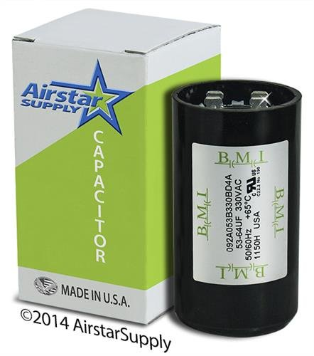 Start Capacitor 250v - 53-64 uF x 330 VAC - Well Pump Motor Start Capacitor - BMI Replacement # 092A053B330BD4A - Made in the USA