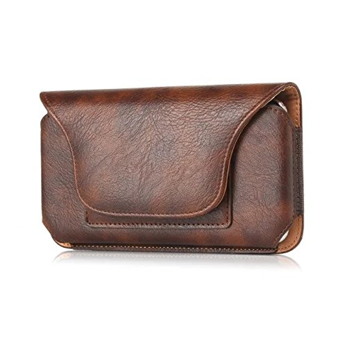 eBuymore Horizontal PU Leather Case Executive Holster Belt Pouch for Samsung Galaxy S7 Edge / S6 Edge+ Plus / Note 5 / Galaxy J7 Prime / Galaxy On7 / On 8 / iPhone 6S Plus / iPhone 7 Plus (Brown)