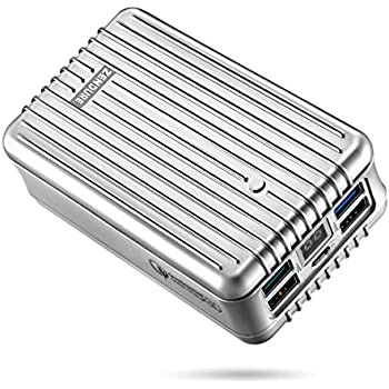 Portable Charger, Quick Charge 3.0 Zendure A8 QC External Battery 26800mAh with Qualcomm QC 3.0 Super High Capacity Power Bank with LED Display for Samsung, iPhone etc. (Silver)