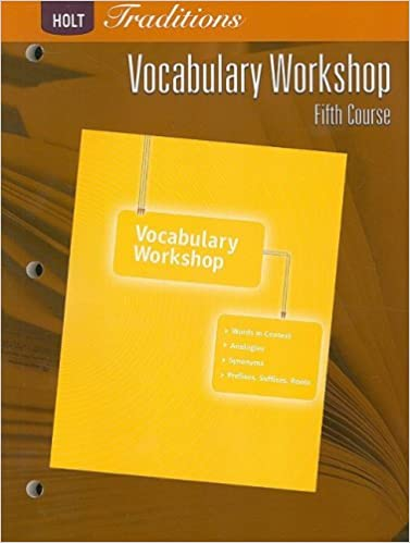 Holt Traditions Vocabulary Workshop Student