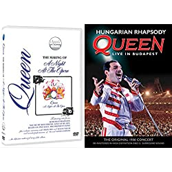 Hungarian Rhapsody: Queen Live in Budapest + Queen: The Making of A Night at the Opera - DVD Classic Rock Band Musical Set Freddie Mercury / Brian May / Roger Taylor / John Deacon