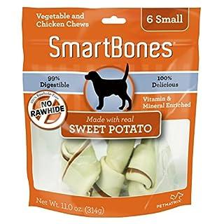 SmartBones Sweet Potato Dog Chew, Small, 6 pieces/pack