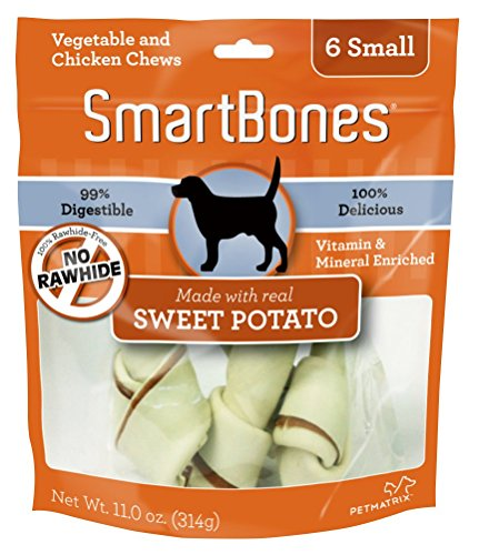 SmartBones Sweet Potato Dog Chew, Small, 6 pieces/pack
