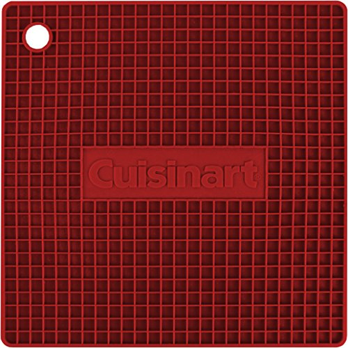 Cuisinart Multipurpose Silicone Kitchen Tool, Trivet/Pot Holder, Spoon Rest, Jar Opener, Coaster, Heat Resistant Pad, Red