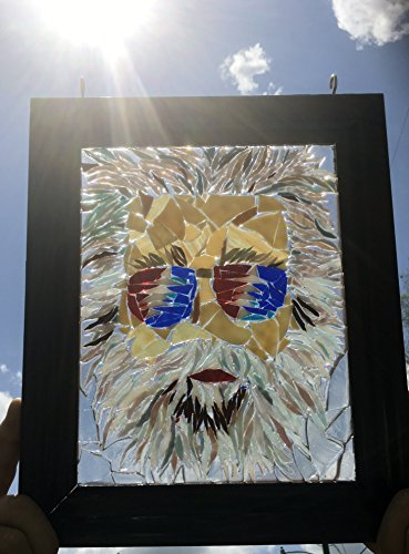 Jerry Garcia stained glass window art suncatcher by Mountain Mosaics (Image #1)
