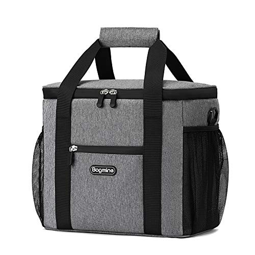 Oxford Cloth Aluminum Foil Insulation Ice Bag 20l Large Capacity Portable Ice Pack Waterproof Zipper Messenger Shoulder Exquisite Workmanship In