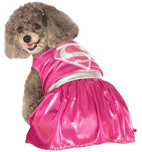 Halloween Costumes Item - Cat & Dog Costume Pink Supergirl Medium (Supergirl Dog Costume)