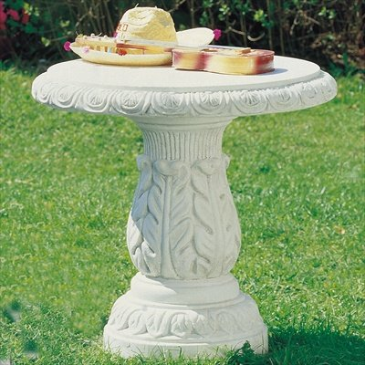Tisch aus Betonwerkstein robuster Gartentisch rund