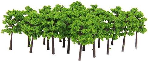 【ノーブランド品】1:250 モデル木 鉄道 風景 モデルツリー 鉄道模型 建築模型 電車模型に グリーン40本