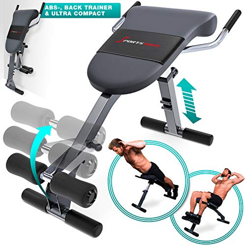 Sportstech 3in1 Back & Abdominal Trainer Hyperextension Bench With Innovative Anti-Slip Design: BRT200 Foldable, Multifunctional With Ergonomic Padding, Quick Release, 5 Difficulty Levels