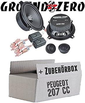 Peugeot 207 Cc Ground Zero Gzif 13 X 13 Cm Component Speaker System Installation Kit Navigation Car Hifi