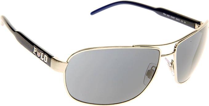 a6f778b09fe0 ... Polo 3053 910487 Silver and Blue 3053 Aviator Sunglasses Lens