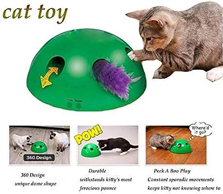 GJQGYY Juguete para Gato con Plumas y RatóN Juguetes para Gatos ...