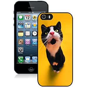 Fashion DIY Custom Designed iPhone 5s Generation Phone Case For Funny Black Cat Phone Case Cover