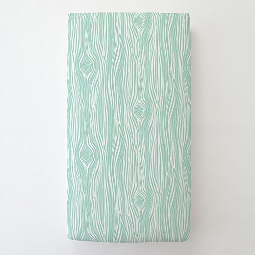 Carousel Designs Mint Large Woodgrain Toddler Bed Sheet Fitted by Carousel Designs (Image #1)