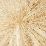 Anogol Hair Cap+Short Wavy Cosplay Wig Blonde