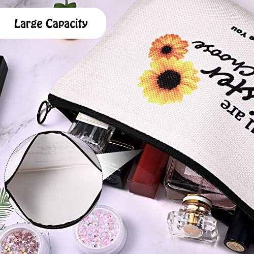 Birthday Present for Sister Friend Woman Makeup Travel Case You're the Sister I Got to Choose Makeup Bag, Cosmetic Bag for Soul Sisters and Friends