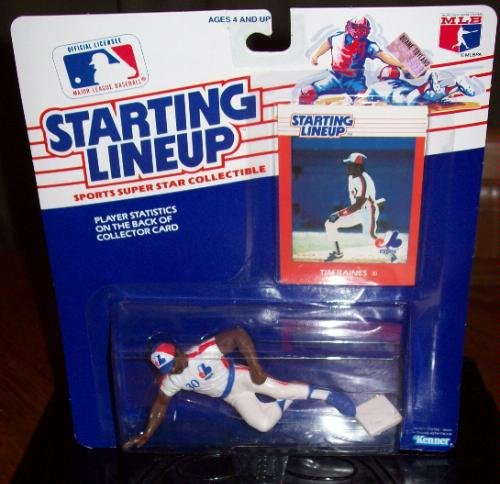 Tim Raines Action Figure of the Montreal Expos - Major League Baseball 1989 Starting Lineup Sports Super Star Collectible