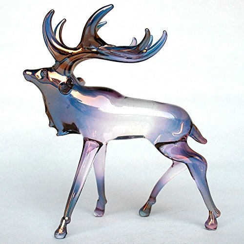Elk Figurine of Hand Blown Glass