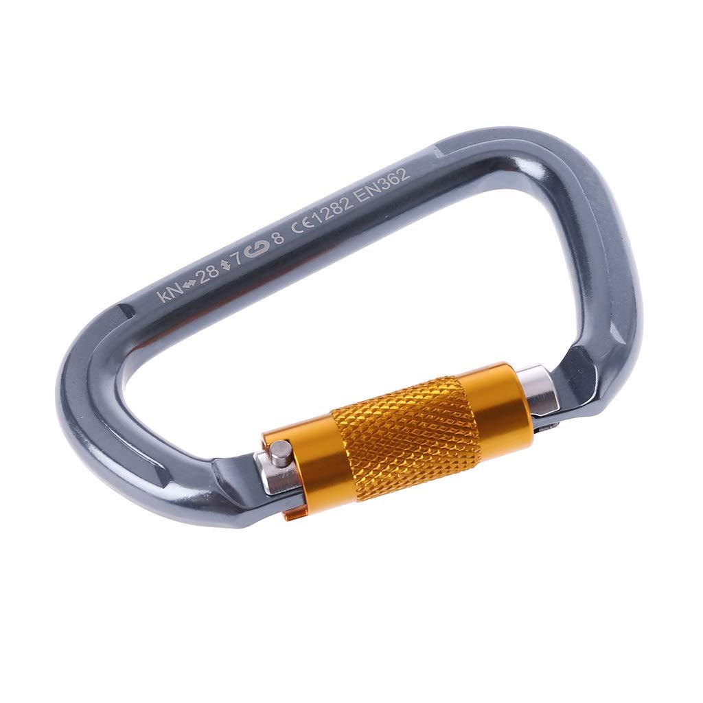 ruiruiNIE 28KN Professionelle Karabiner D Form Auto Locking Buckle Kletterausr/üstung