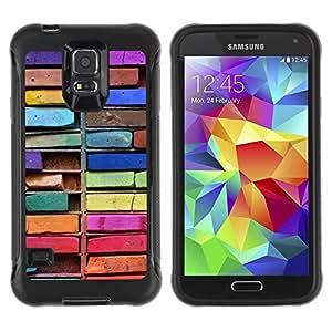 Suave TPU Caso Carcasa de Caucho Funda para Samsung Galaxy S5 SM-G900 / Colorful Drawing Art Messy / STRONG