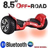 hummer - Hummer All-Terrain 8.5 inch Hoverboard w/ built in Bluetooth Speaker Off-Road Hoverboard Balance Scooter w/ Metal body (UL 2272 Certified) (Red)
