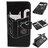 "IPhone 6 Case,iphone 6S Case Leather,Creative case PU Leather Wallet Flip Case,""MOONESS(TM)""[stand feature] [Card Slots] [Magnetic Closure] Case Cover for IPhone 6/6S 4.7 inch (White Cat)"