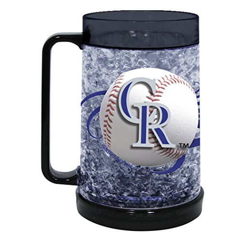 MLB Colorado Rockies Freezer Mug (16-Ounce), Large, Black